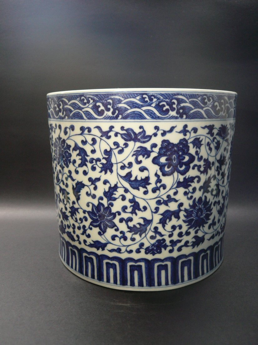A Qianlong Period Blue and White Brushpot