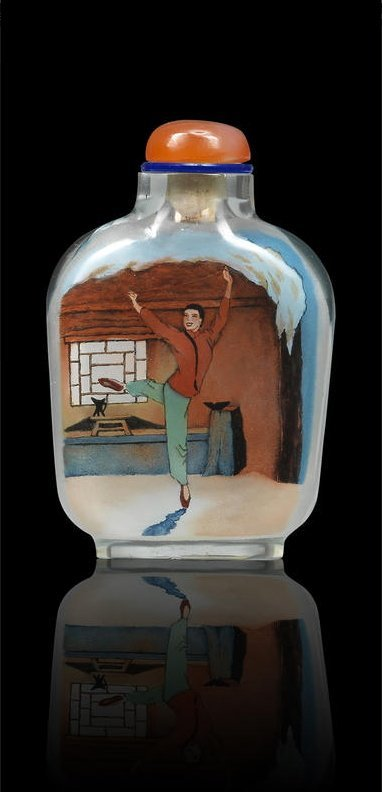 An inside-painted 'The White Hair Girl' snuff bottle - 2