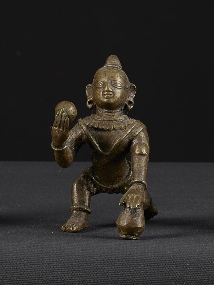 An Old Bronze Sculpture of Bal Krishna