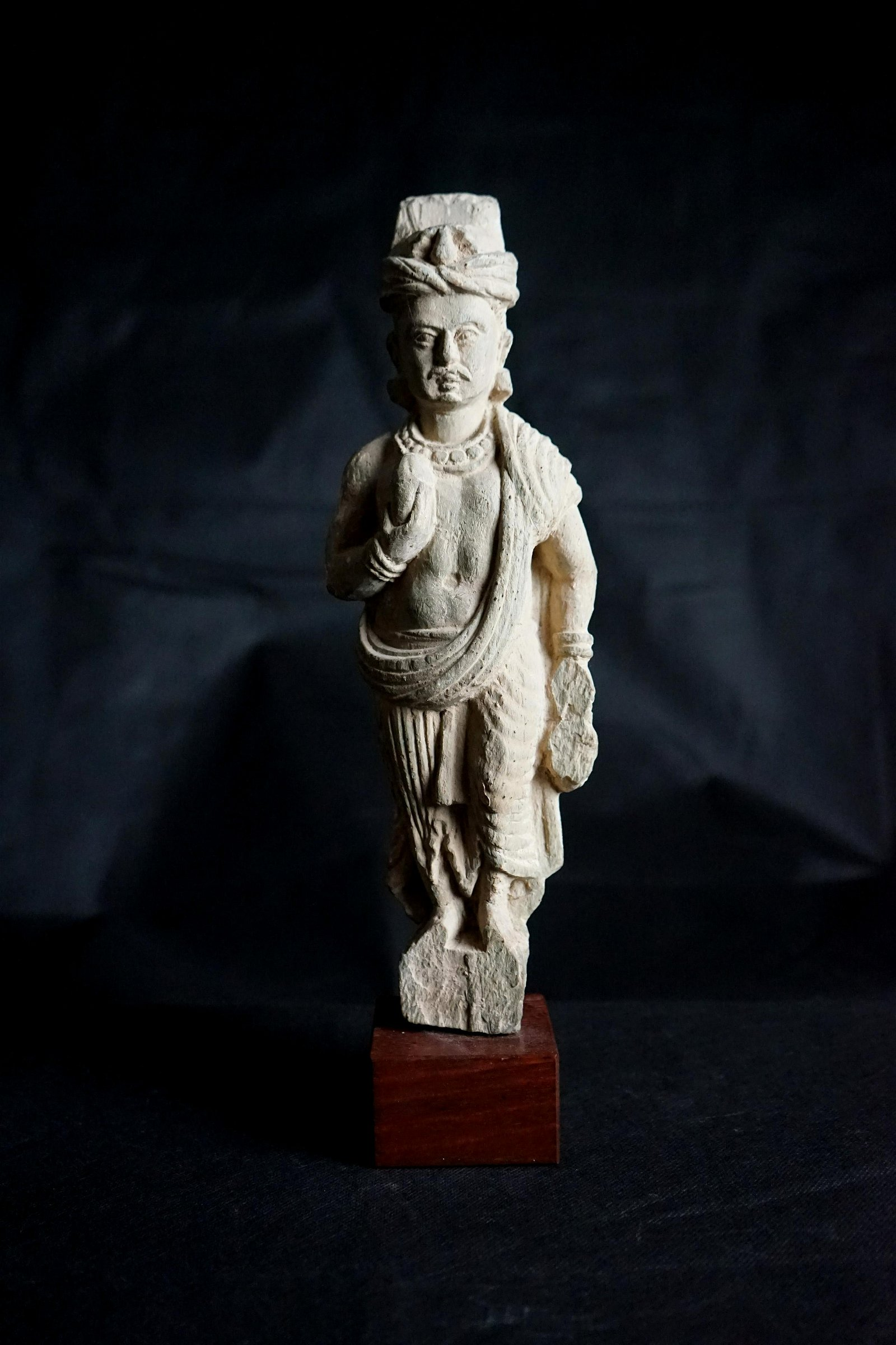 A Nice Gandharan Schist Standing Sculpture of young