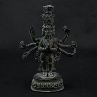 A Nice Sino Tibetan Bronze Statue of standing