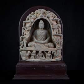 A Very Nice Gandharan Seated Buddha