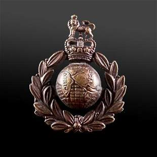 Issue Royal Marines Bronze Beret / Cap Badge