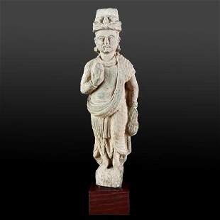 Gandharan Schist Standing figure of Prince Siddhartha