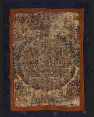 Old Sino-Tibetan Thangka