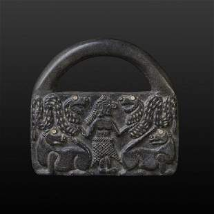 Rare Ancient BMAC (Intercultural) Black Chlorite Bag