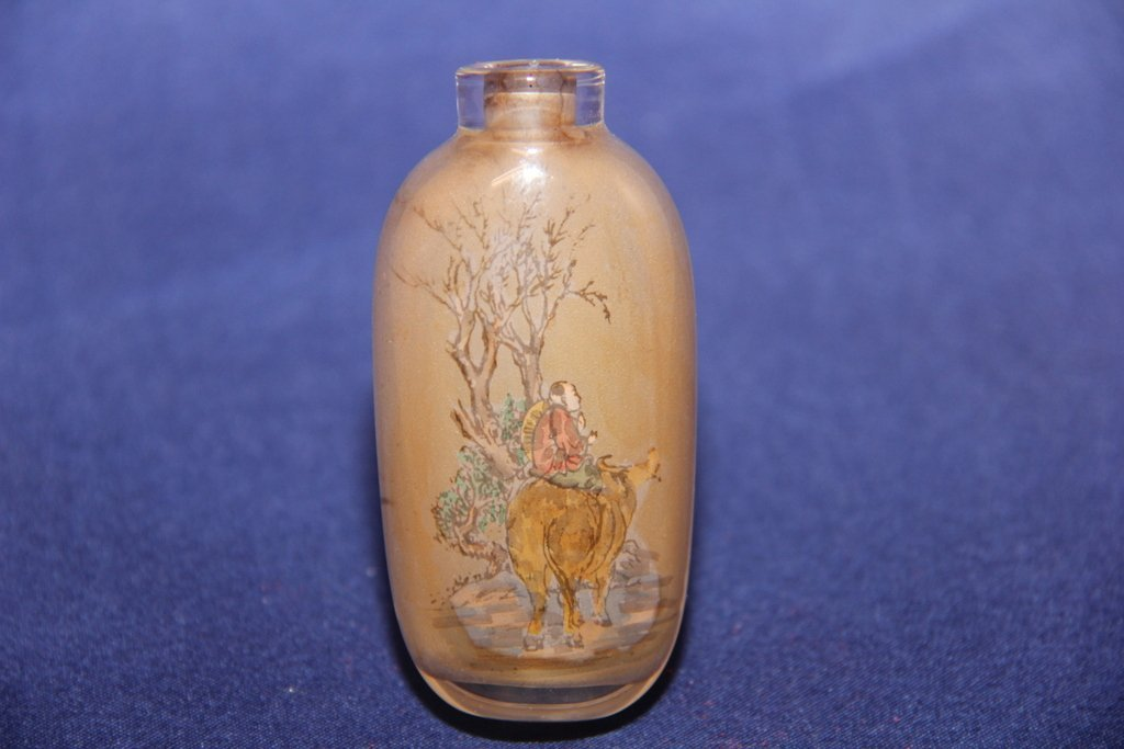 Rare twin inside painted galss snuff bottle