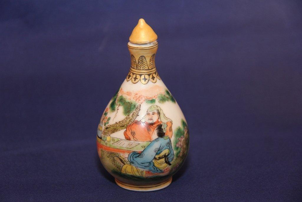 Antique porcelain snuff bottle