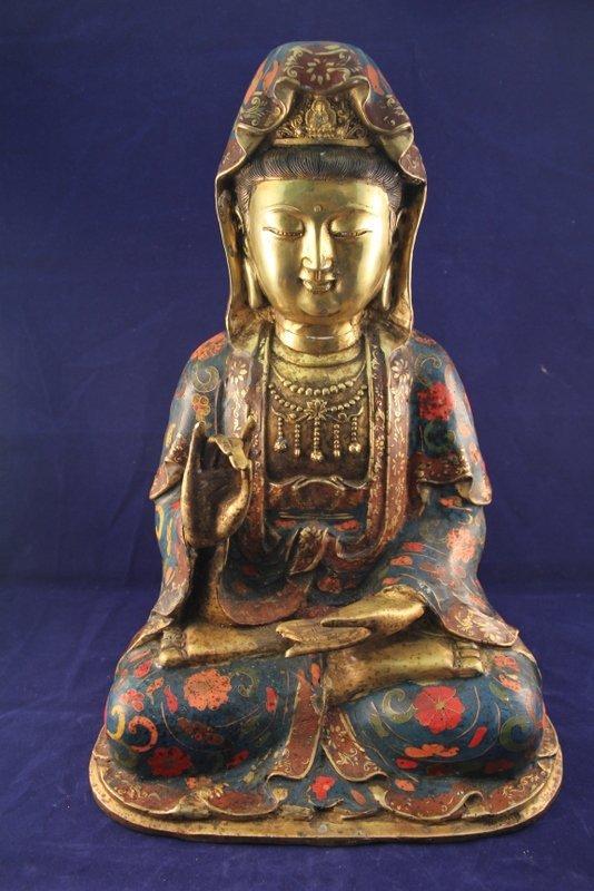 Antique cloisonne buddha statue