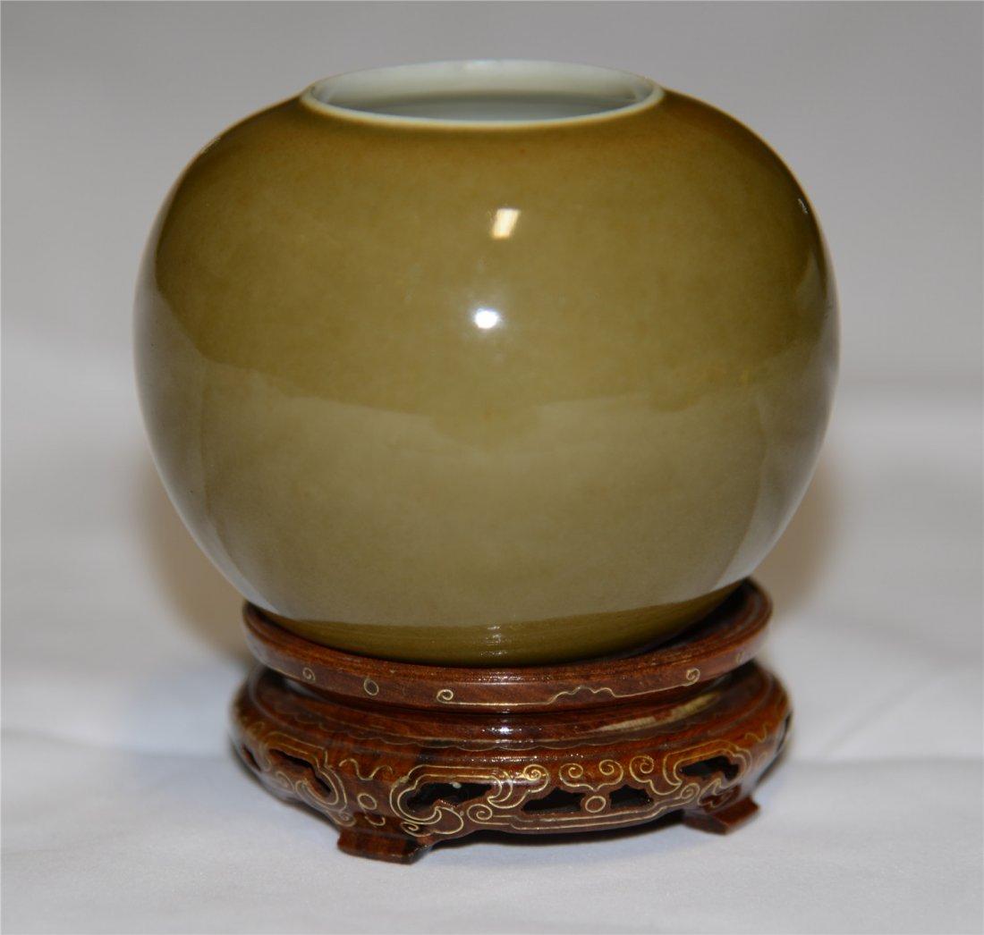 A Tea-Dust Glazed Cup Qing Dynasty, 19th Century H: 8c