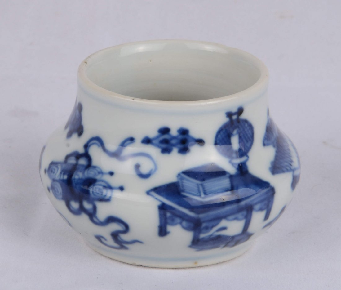 BLUE AND WHITE INK POT