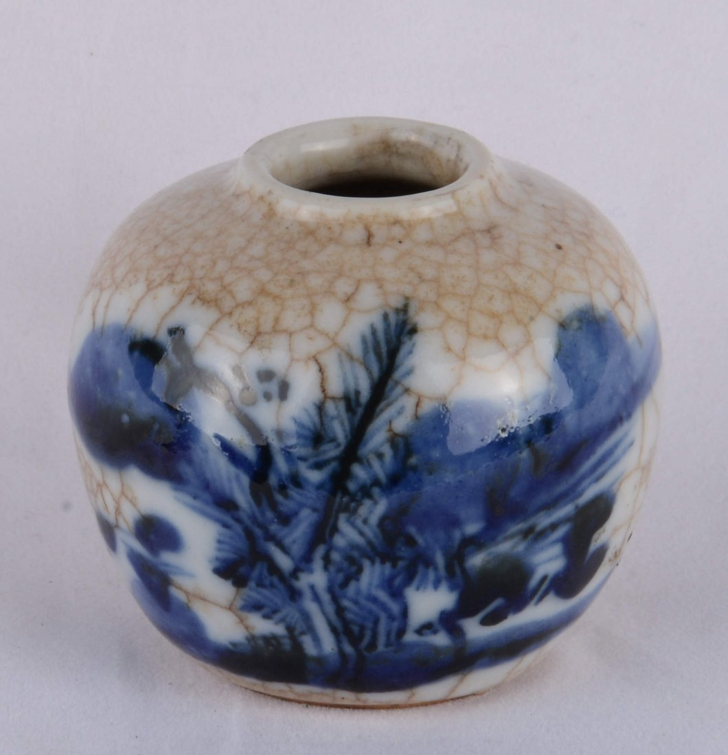 GE-TYPE  BLUE AND WHITE INK POT