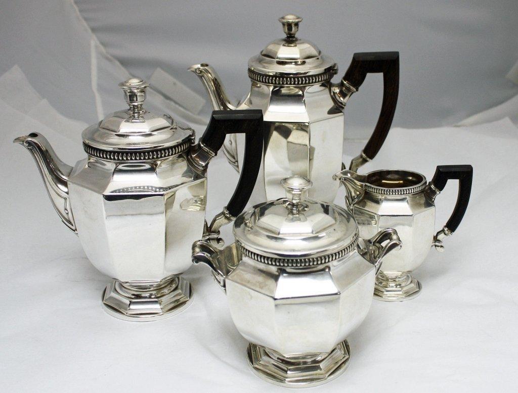 4pc Christofle French Gallia Silver Coffee Tea Set