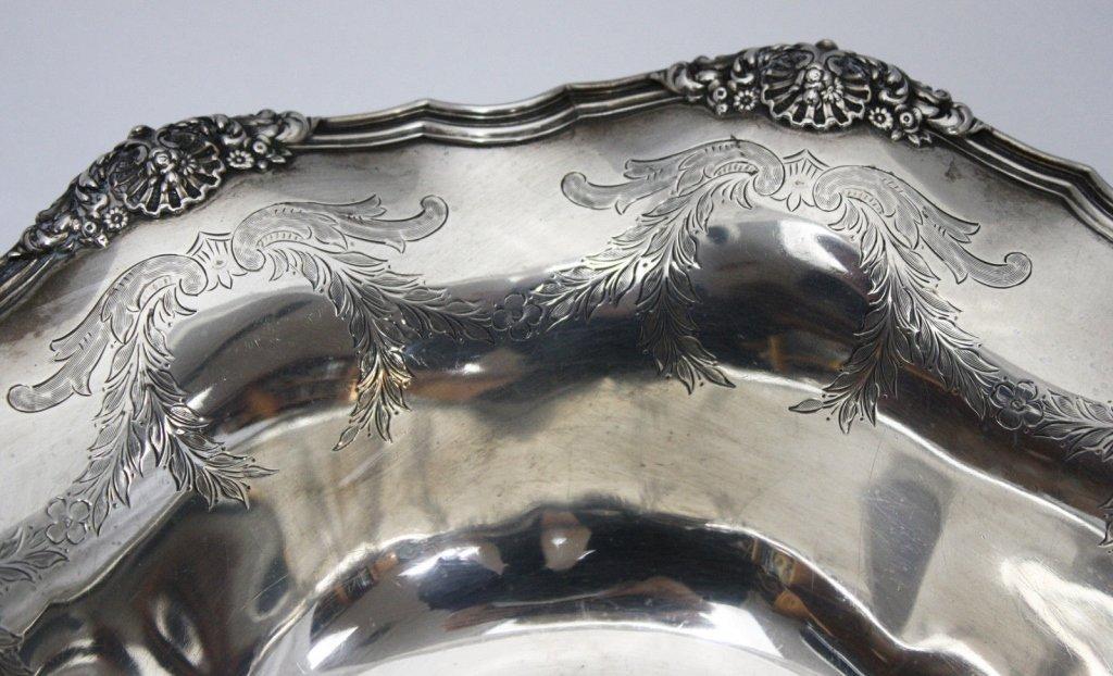 Tiffany Sterling Wave Edge Serving Bowl c. 1890 - 2