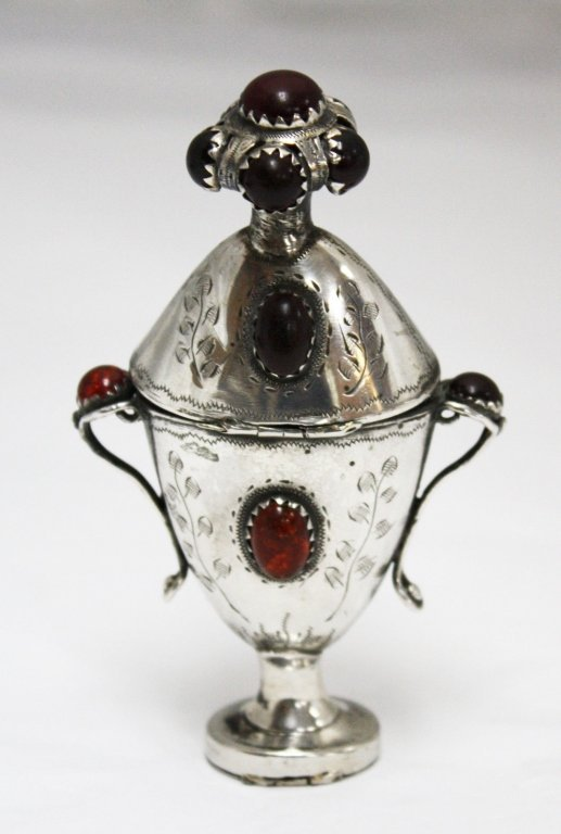 Early 19th C Scandinavian 830 Silver Marriage Box