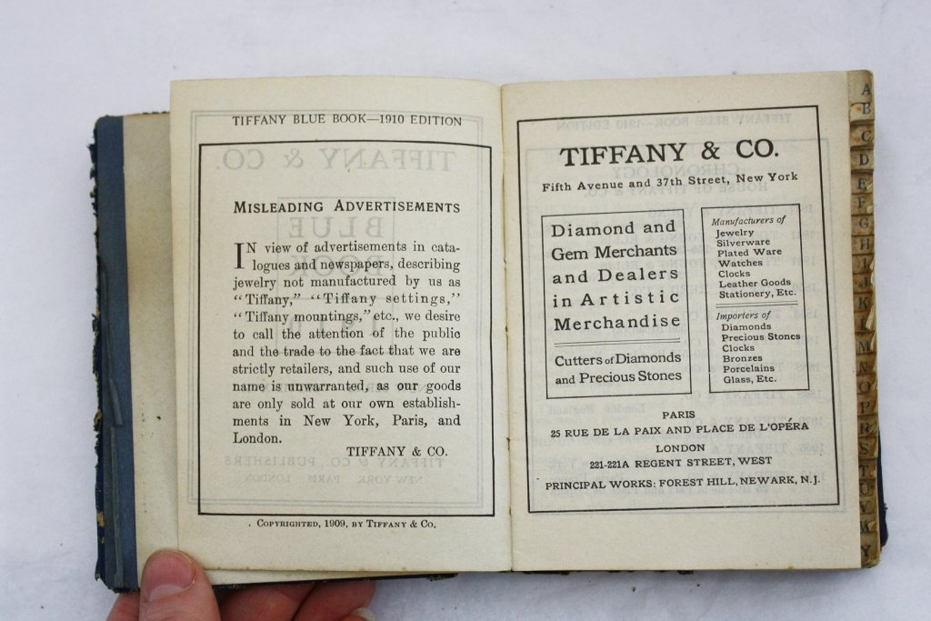 Tiffany & Co. 1910 Blue Book Catalog Volume XVII