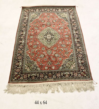 ANTIQUE PERSIAN SILK RUG MADE IN QUM BY ARMEH FAMILY