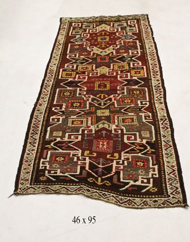 Antique Persian Kazak Rug