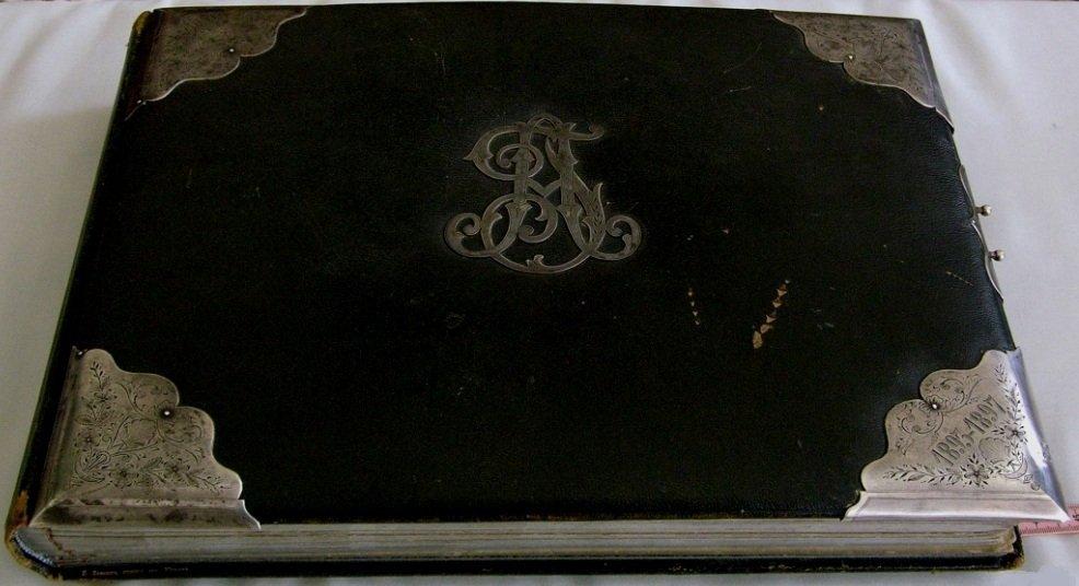 Antique Russian Album Silver Cover, 1893