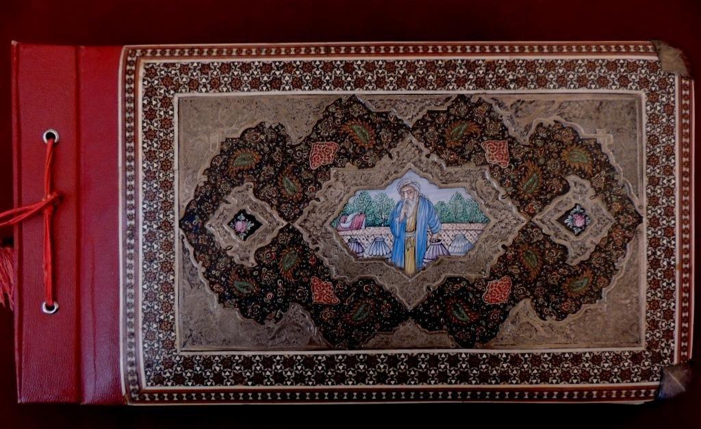 ANTIQUE PERSIAN SILVER COVER PHOTO ALBUM