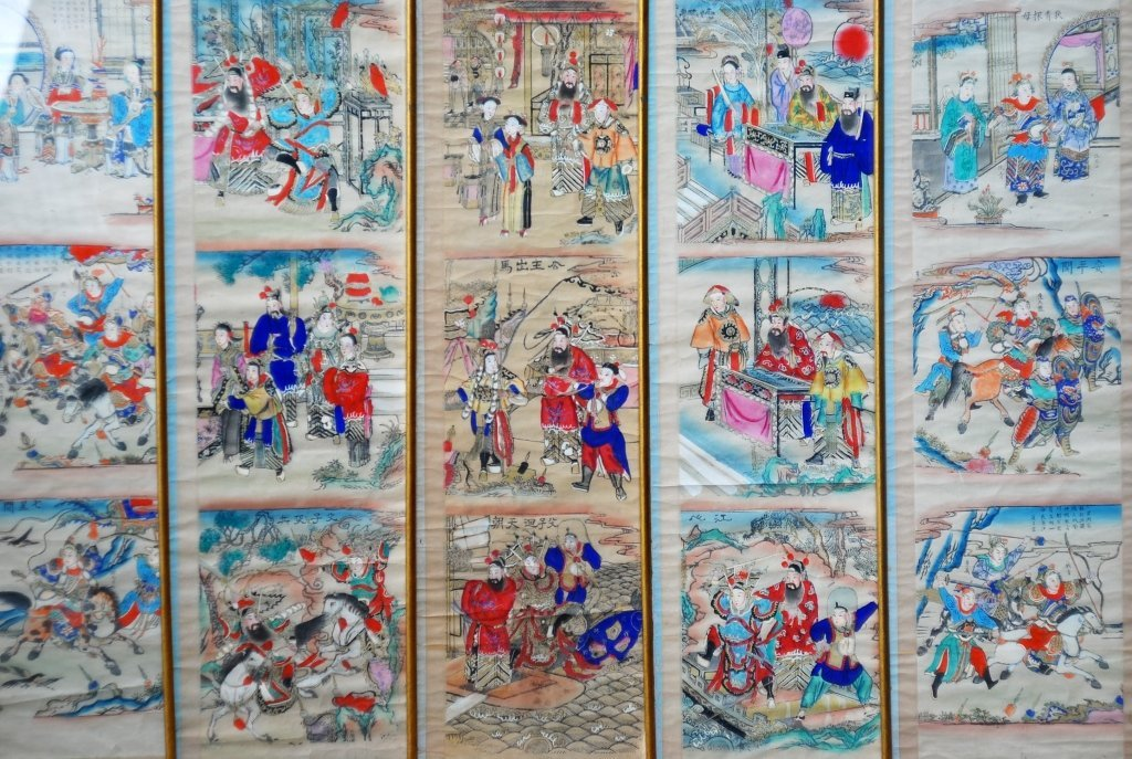 Antique Chinese hand scroll paintings