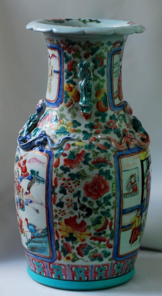 19th Century Chinese porcelain Famille Rose vase