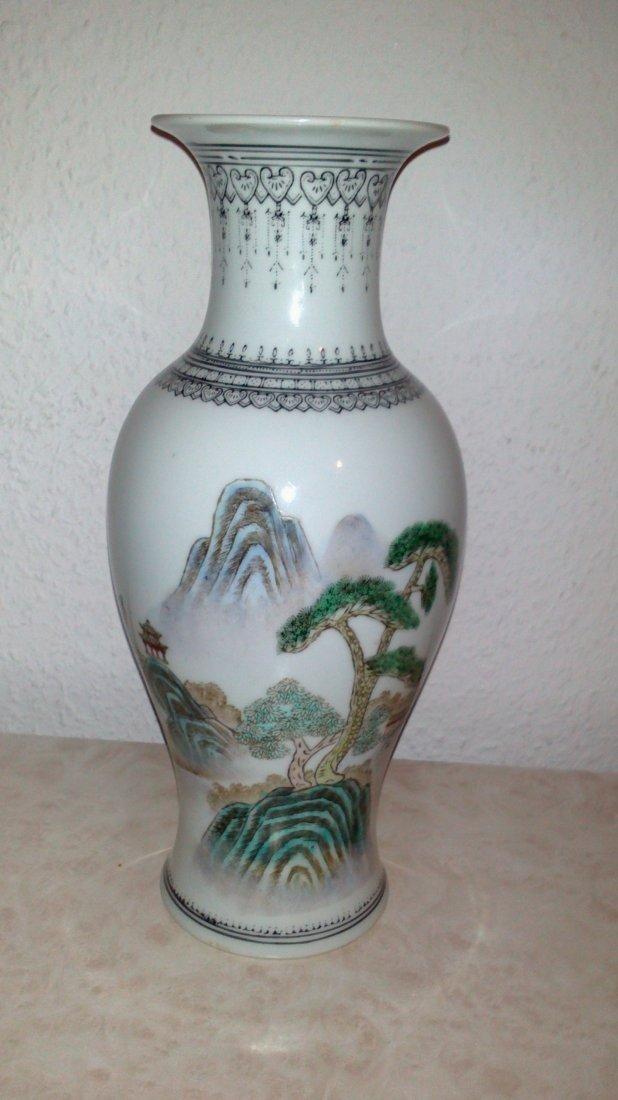 Famille Rose vases, China, Republic Period