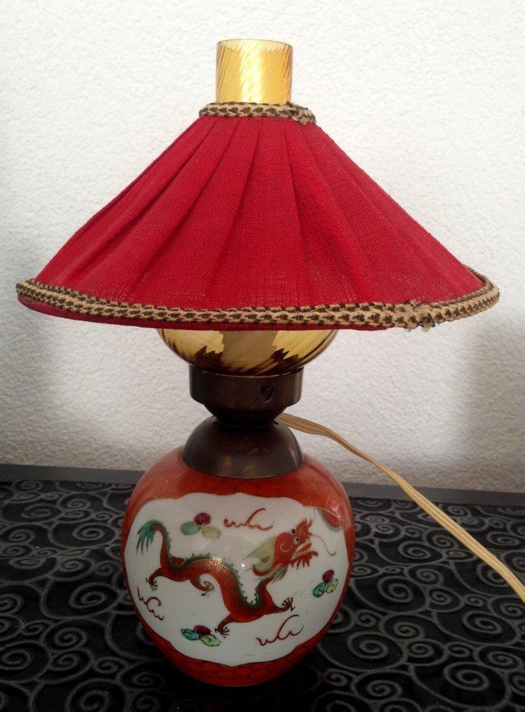 Chinese Porcelain Lamp Dragon Design