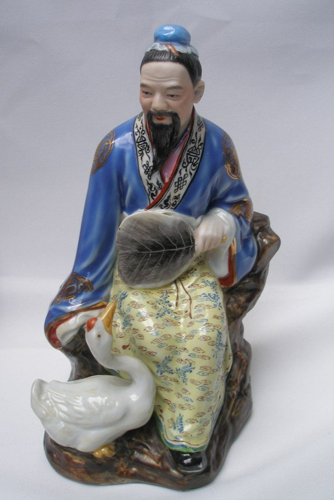 Chinese Porcelain Buddha Figurine with Gus
