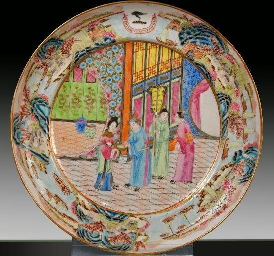 19TH CENTURY CHINESE PORCELAIN PLATE FAMILLE ROSE