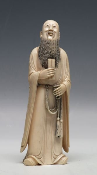 CHINESE IVORY FIGURE GREAT CONFUSIUS