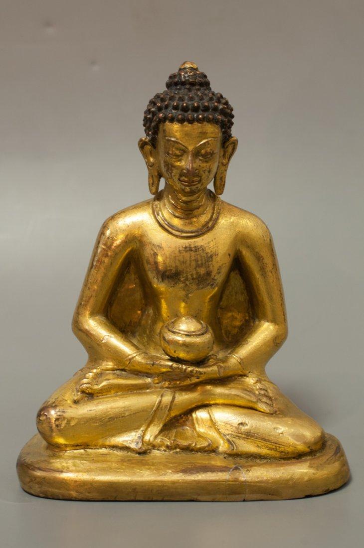 CHINESE BRONZE BUDDHA 18TH CENTURY