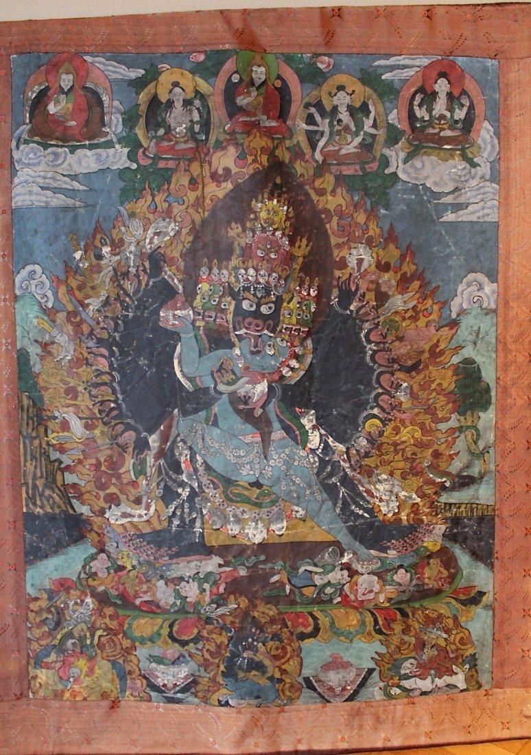 Tibetan Thangka Chinese Painting 18th-19th century