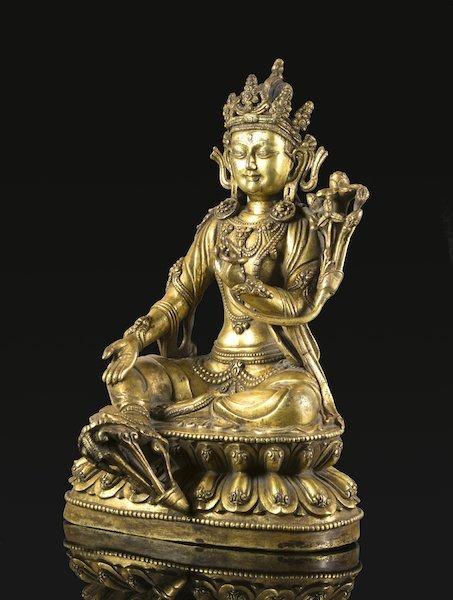 CHINESE BRONZE BUDDHA AVALOKITESVARA