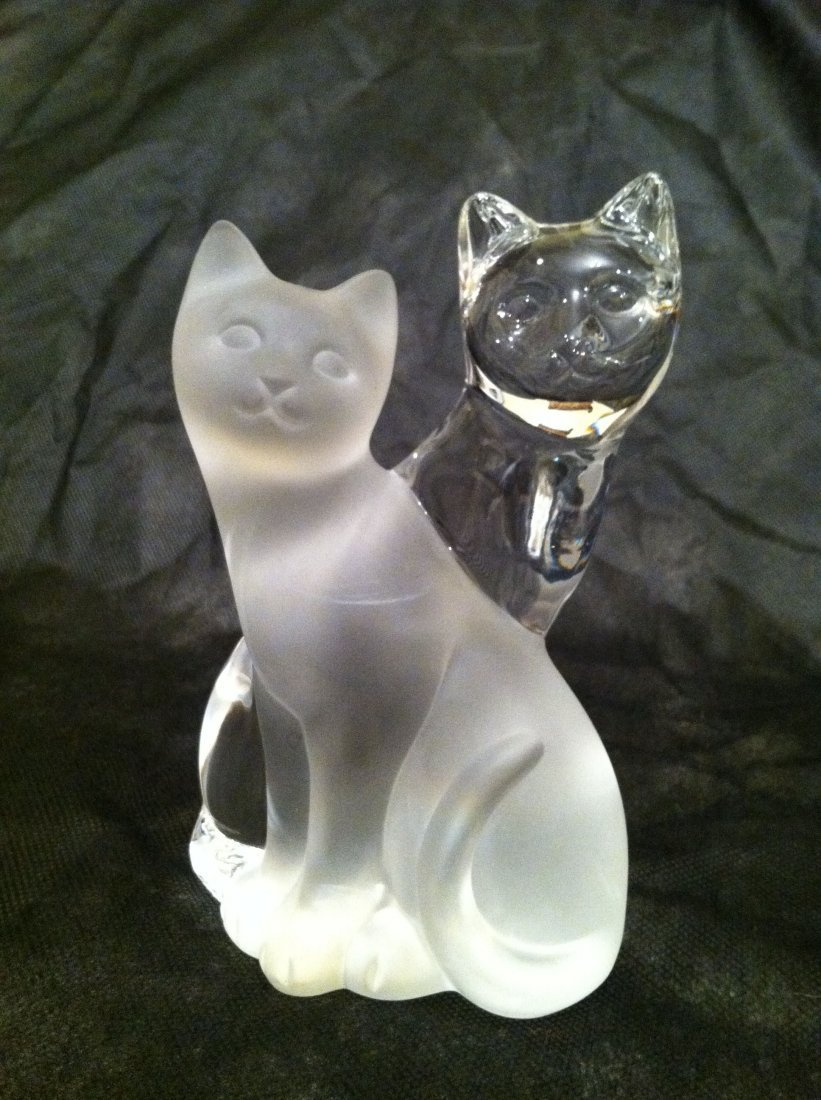 LENOX HIS AND HERS CRYSTAL CATS