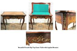 FRENCH GAME TABLE (FLIP TOP)