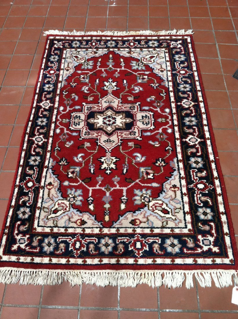 2.5x4 PERSIAN AREA RUG RED/BLUE