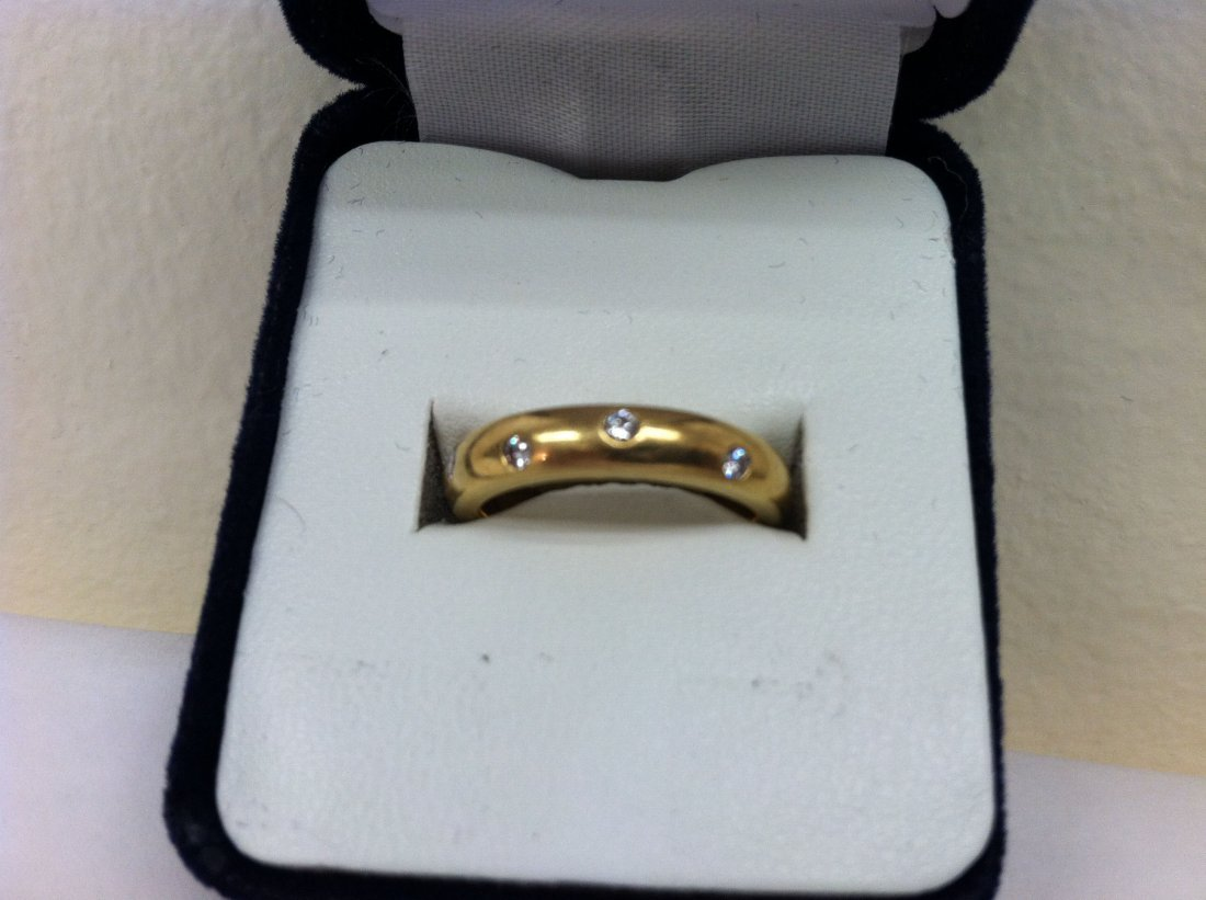 .264 OZ. TOTAL WEIGHT 18K SOLID GOLD AND DIAMOND