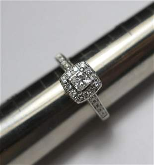14k gold antique style diamond engagement ring