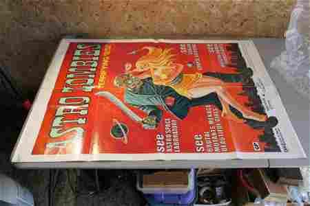 Astro Zombies Vintage Sci Fi Movie Poster