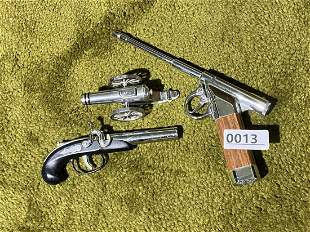 Group of three vintage lighters