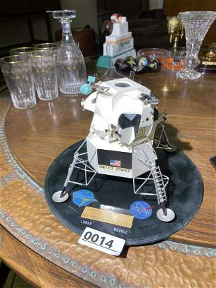 Rare Grumman Nasa period Lunar Module model