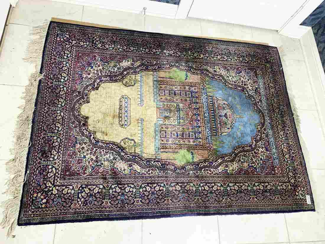 Fine Unusual Vintage Silk Persian Rug or Carpet