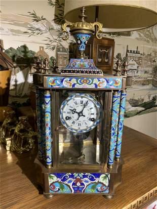 Antique Chinese Enamel Mechanical clock