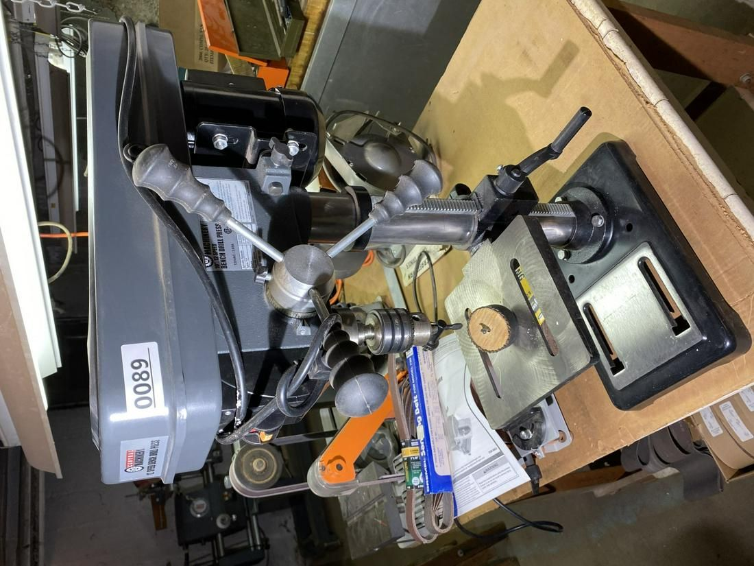 """Central Machinery 10"""" 12 Speed Bench Drill Press"""