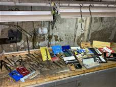 Giant lot of precision measuring tools, calipers,