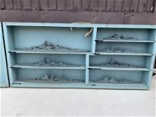 RARE WWII U.S Navy Teacher Models German Navy Ships in