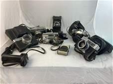7 Vintage Cameras Including Folding Cameras