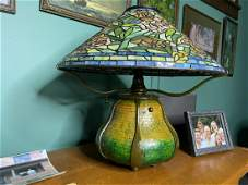 Quoizel Arts & Crafts Tiffany Style Stained Glass Lamp