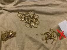Group lot of scrap gold  508 grams 14k 1267 g 10k